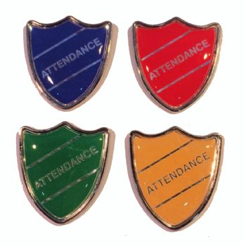 ATTENDANCE shield badge